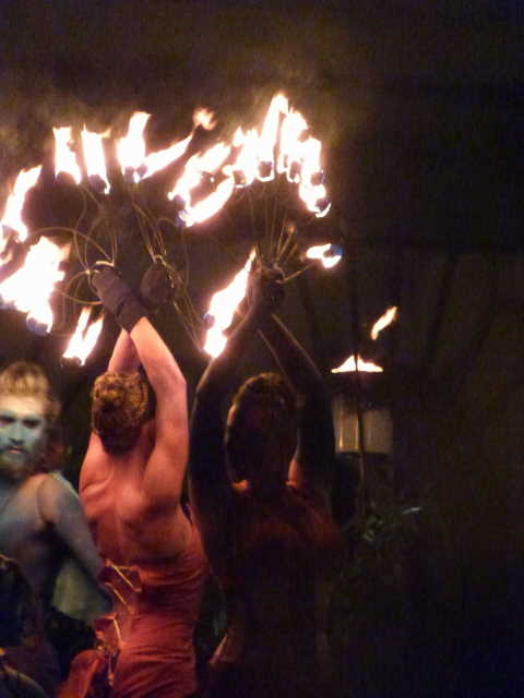 Fire dancers at Samuinn. Photos copyright QueenMab/Shipscook Photographic. contact simon.ball3@btopenworld.com for commercial reuse