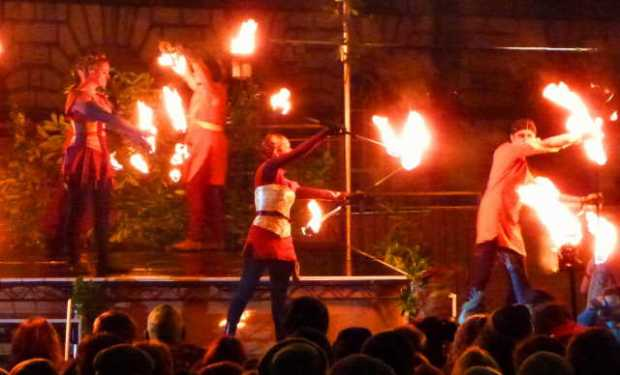 Firedancers at Samuinn. Photos copyright QueenMab/Shipscook Photographic. contact simon.ball3@btopenworld.com for commercial reuse
