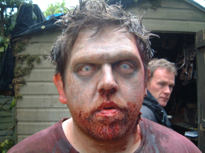Nick Frost made up by Stuart Conran in Shaun of the Dead